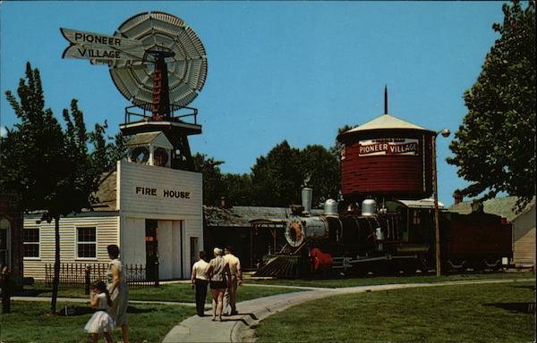 Up Windmill Water Tower Depot And 1889 Locomotive Minden Ne