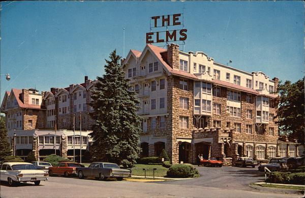 Sheraton-Elms Hotel Excelsior Springs MO postcard 1960s