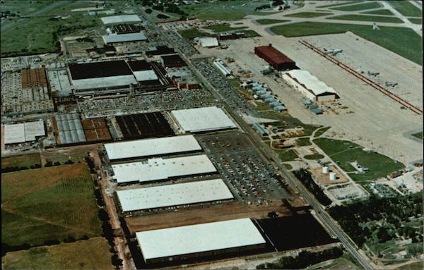 Aerial View of Boeing Military Airplane Company Wichita Kansas