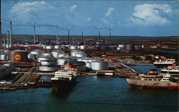Giant Shell Refinery Curacao Netherlands Antilles Caribbean Islands