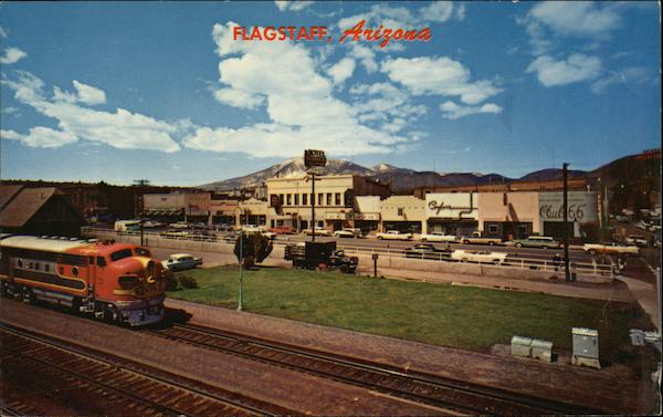 Main Street and Railroad Flagstaff Arizona