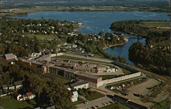 Air View of Maine State Prison, Georges River and Harbor Thomaston