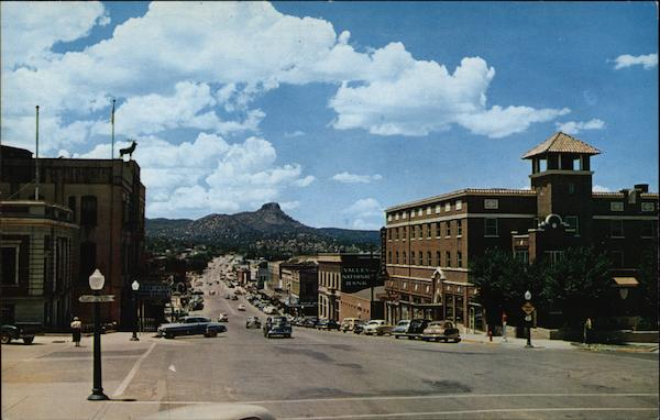 Gurley Street with Thumb Butte in the Background Prescott Arizona