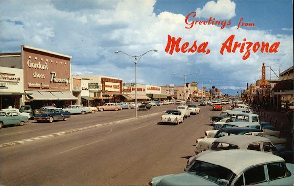 Looking East On Main Street Mesa Az