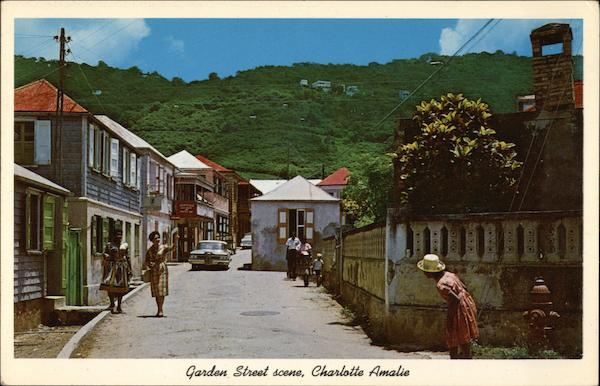Garden Street Scene - Charlotte Amalie St. Thomas Virgin Islands