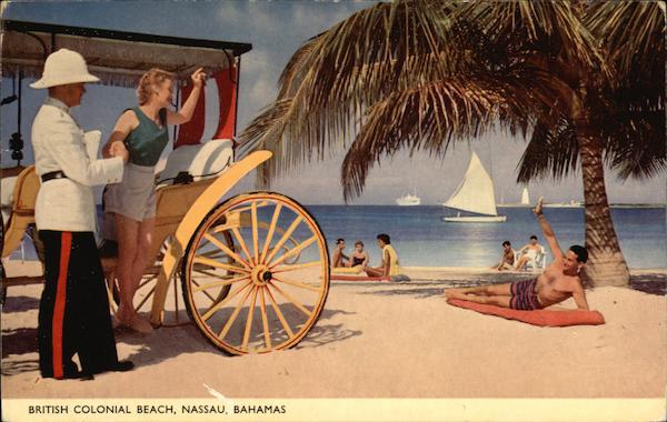 British Colonial Beach Nassau Bahamas Caribbean Islands