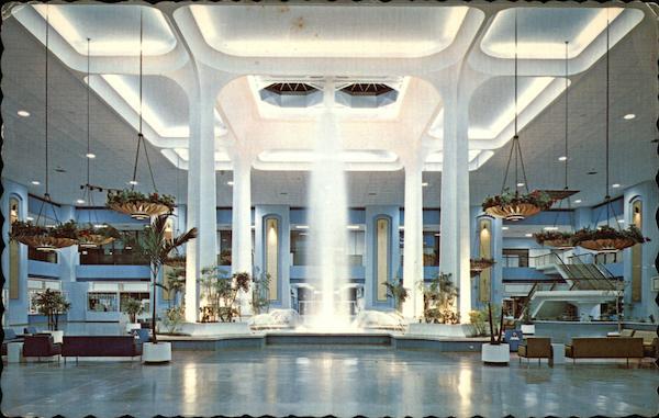 Fountain in Cinderella Court, Blue Mall of Cinderella City ...
