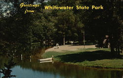 Swimming Area, Whitewater State Park Postcard