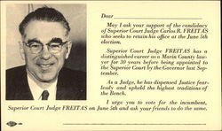 Judge Carlos R. Freitas Campaign Card