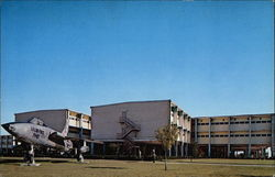 "Trainee Dormitory & ""Thunderchief"" Fighter Bomber, Lackland Air Force Base"
