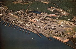 Aerial View, U.S. Naval Submarine Base, New London