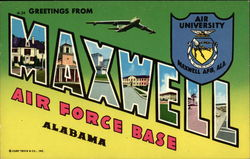 Greetings from Maxwell Air Force Base Postcard