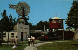 UP Windmill & Water Tower Depot and 1889 Locomotive