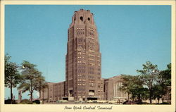 New York Central Terminal Postcard