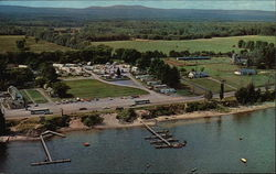 Pray's Resort Operations, Lake Champlain Postcard