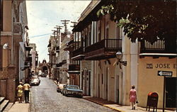 "Old City Street with ""Cristo Chapel"" in the Background"