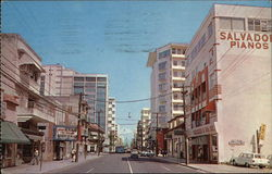 Street Scene at Stop 22nd, Pnce de Leon Avenue Postcard
