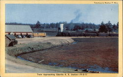 Train Approaching Edaville R.R. Station Postcard