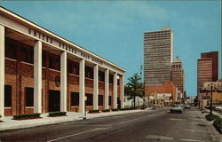 United States Post Office and Skyline Postcard
