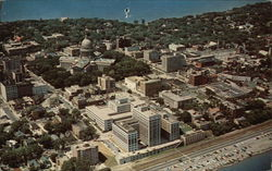Aerial View of Capital Square, Downtown Madison