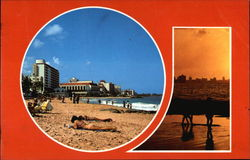 Condado in Sunshine and at Sunset Postcard