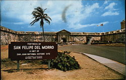 Facade and Main Entrance to Castillo San Felipe del Morro (1539-1787) Postcard