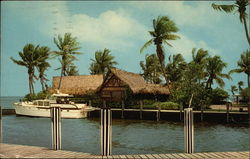 Langford's Outrigger Restaurant and Marina Postcard
