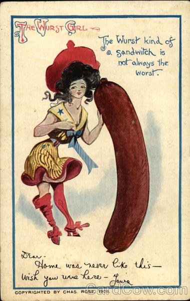 The Wurst Girl, The Wurst Kind of a Sandwich is Not Always the Worst