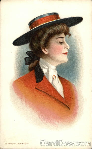 Howard-Holt Co. - Woman with Hat and Orange Jacket
