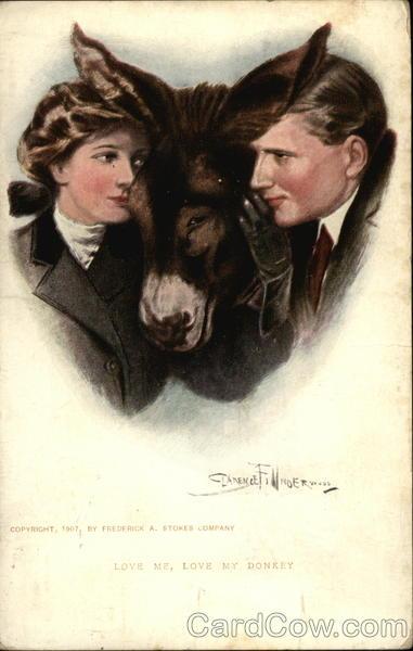 Love Me Love My Donkey Clarence F. Underwood Donkeys