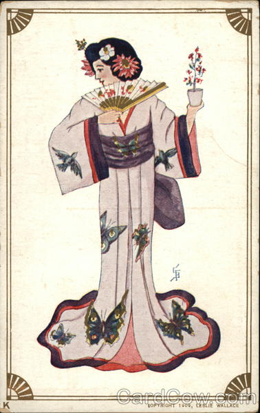 Young Woman in Kimono Asian