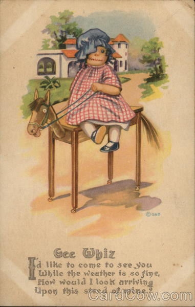 Raggedy Anne Doll on Wooden Horse Dolls