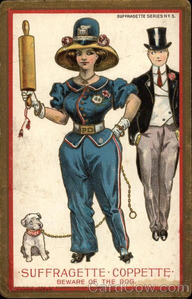 Suffragette-Coppette Beware of the Dog Women's Suffrage