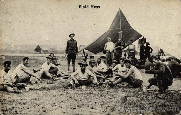 Soldiers at Field Mess Military