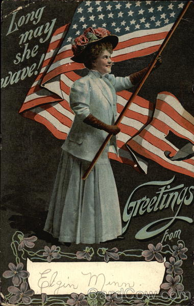 Long May She Wave! Greetings From Patriotic