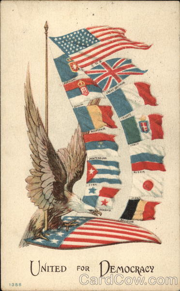 Eagle With Flags Patriotic World War I