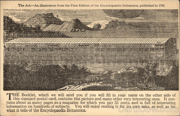 The Ark - An Illustration from the First Edition of the Encyclopedia Britannica, published in 1768