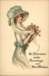 St. Valentine Sends Greetings and Best Wishes