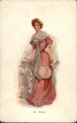 Spring - Woman in Pink Dress
