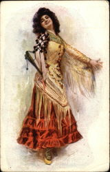 5511 Italian Dancer Postcard