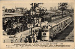 Burlington Zephyr at A Century of Progress Exposition - 1934