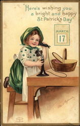 Young Girl on the Telephone