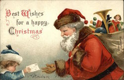 Santa and Child with Letter