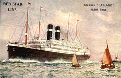 Red Star Line Steamer Lapland 18,694 Tons