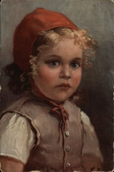 Young Girl in Red Bonnet