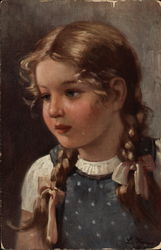 Young Girl With Braided Pigtails