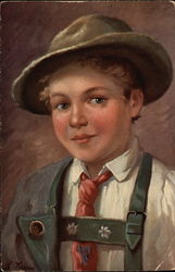 Boy in Traditional German Dress