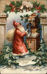 Santa with Old-Fashioned Telephone