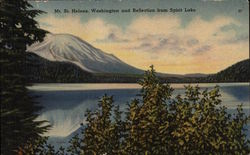 Mt. St. Helens, Washington and Reflection from Spirit Lake