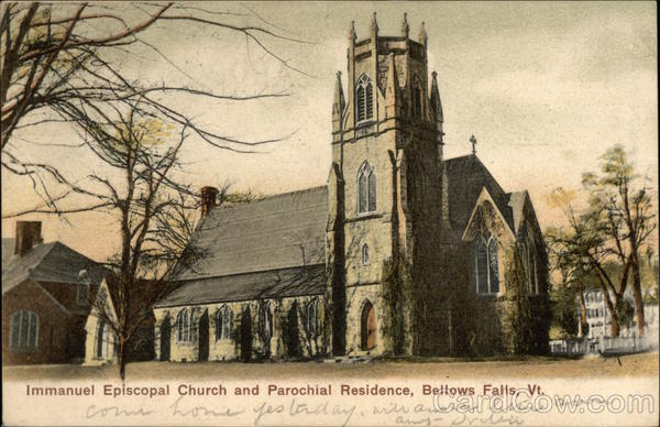 Immanuel Episcopal Church and Parochial Residence Bellows Falls Vermont